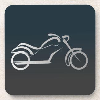 Motorbike artistic silhouette illustration beverage coasters