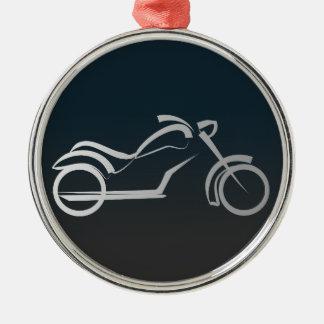 Motorbike artistic silhouette illustration christmas tree ornaments
