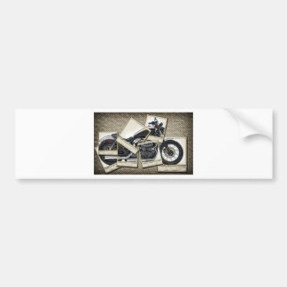 Motorbike Bumper Sticker