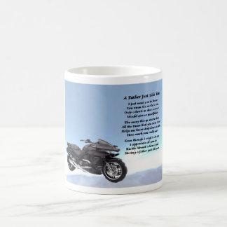 Motorbike father poem mug