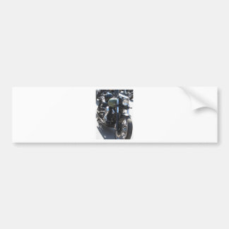 Motorbike in the parking lot . Outdoors lifestyle Bumper Sticker