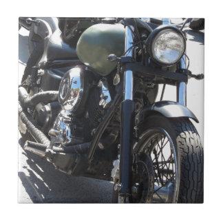 Motorbike in the parking lot . Outdoors lifestyle Ceramic Tile