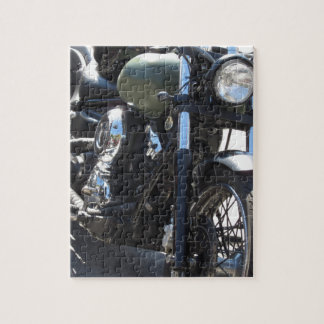 Motorbike in the parking lot . Outdoors lifestyle Jigsaw Puzzle