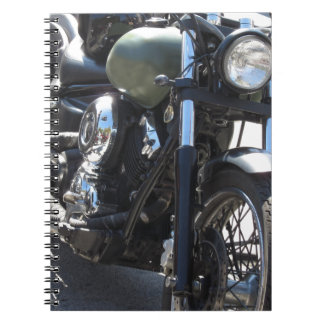 Motorbike in the parking lot . Outdoors lifestyle Notebook