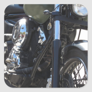 Motorbike in the parking lot . Outdoors lifestyle Square Sticker