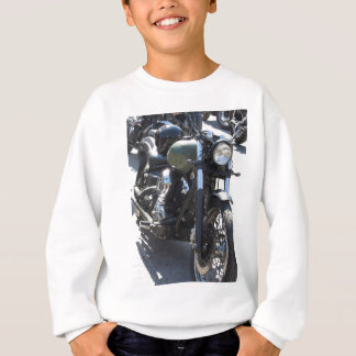 Motorbike in the parking lot . Outdoors lifestyle Sweatshirt