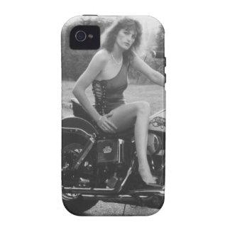 Motorbike Pinup Girl Vibe iPhone 4 Case