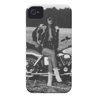 Motorbike Pinup Girl iPhone 4 Case-Mate Case