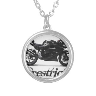 "Motorbike ""Unrestricted"" Silver Plated Necklace"