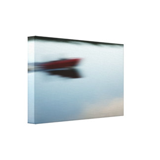 Motorboat abstractly canvas print
