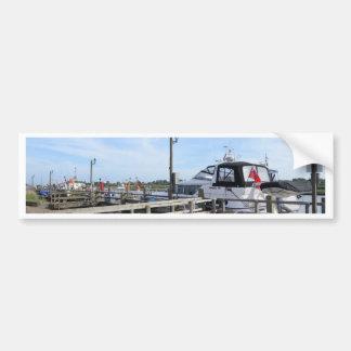 Motorboat On The River Blyth Bumper Sticker