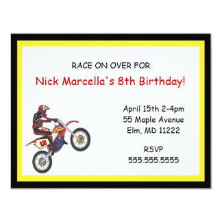 Motorcross Birthday Party Invitation