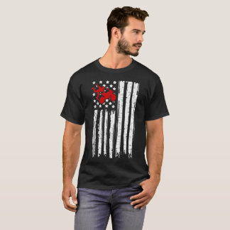 motorcross flag  american T-Shirt