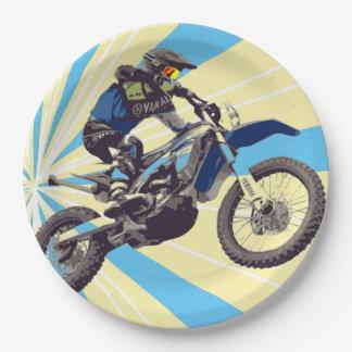 Motorcross Rider Paper Plates 9 in