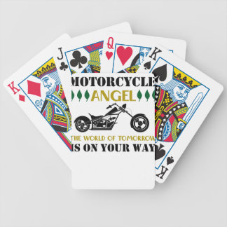 Motorcycle Angel Bicycle Playing Cards