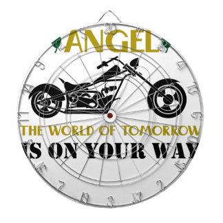 Motorcycle Angel Dartboard