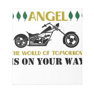 Motorcycle Angel Notepad
