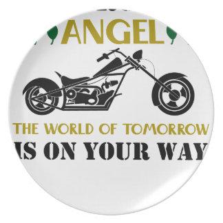 Motorcycle Angel Plate