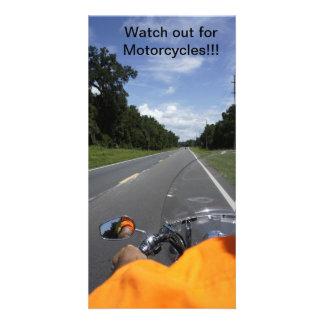 Motorcycle Awareness Customized Photo Card