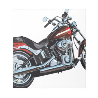 Motorcycle Bike Biker Notepad