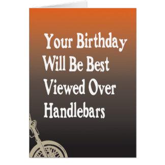 Motorcycle Biker Birthday Card