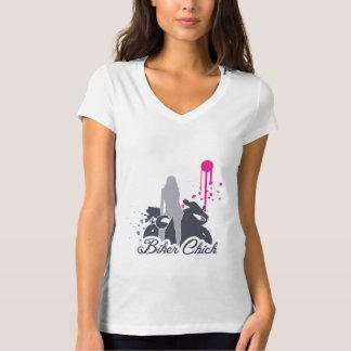 Motorcycle Biker Chick T-Shirt