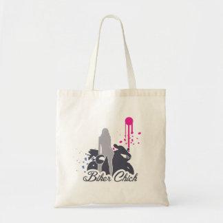 Motorcycle Biker Chick Tote Bag