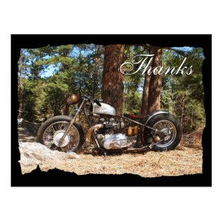 Motorcycle Biker Thanks Postcard
