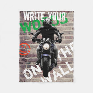 Motorcycle Blanket Brick Wall fCustom Graffitti