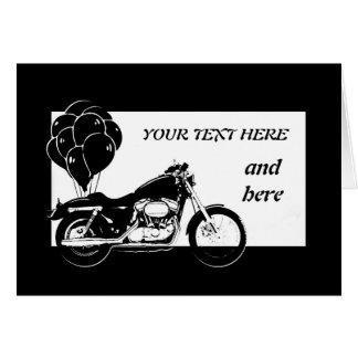 Motorcycle Card-Customizable Card