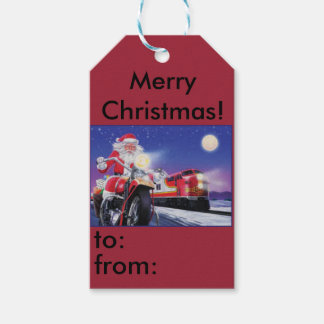 Motorcycle Christmas Gift tag