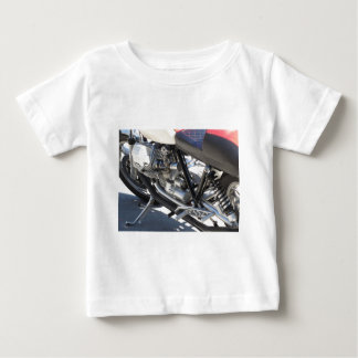 Motorcycle chromed engine closeup detail Side view Baby T-Shirt