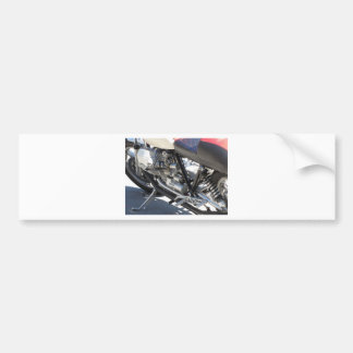 Motorcycle chromed engine closeup detail Side view Bumper Sticker