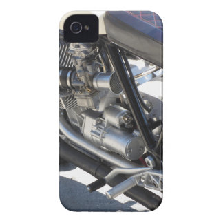 Motorcycle chromed engine closeup detail Side view iPhone 4 Case-Mate Cases