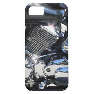 Motorcycle chromed engine closeup detail Side view iPhone 5 Covers