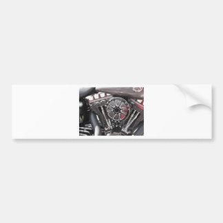 Motorcycle chromed engine detail background bumper sticker