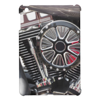 Motorcycle chromed engine detail background case for the iPad mini