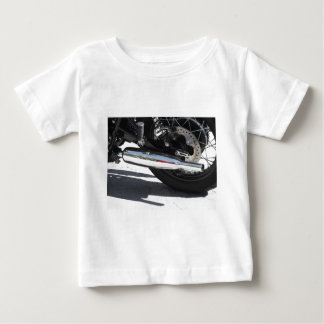 Motorcycle chromed exhaust pipe . Side view Baby T-Shirt
