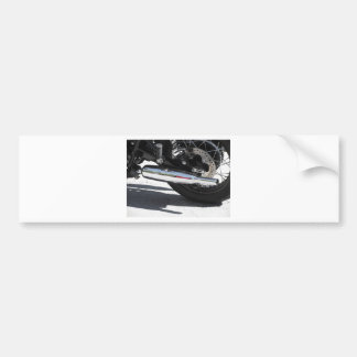 Motorcycle chromed exhaust pipe . Side view Bumper Sticker