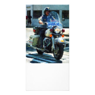 Motorcycle Cop Photo Card Template