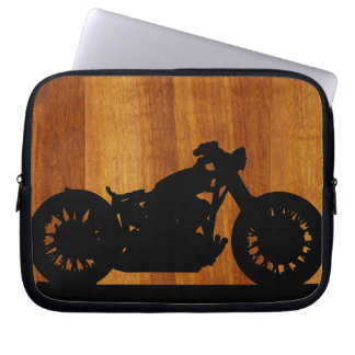motorcycle . country style laptop computer sleeve