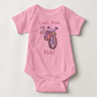 Motorcycle, Crawl, Walk,, Ride! Baby Bodysuit