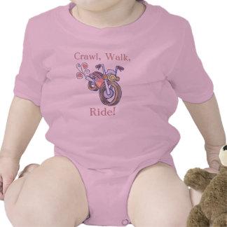 Motorcycle Crawl Walk Ride Tshirt