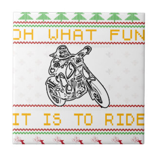 motorcycle design cut ceramic tile