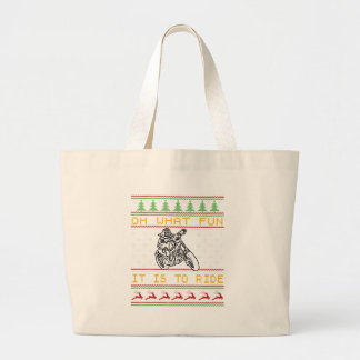 motorcycle design cut large tote bag