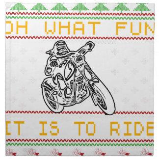 motorcycle design cut napkin