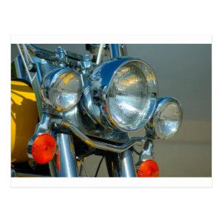 Motorcycle detail postcard