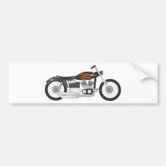 Motorcycle Drawing Bumper Sticker