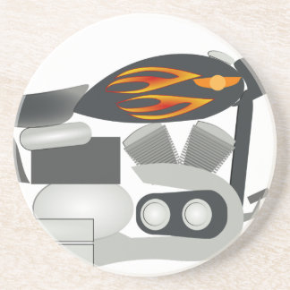 Motorcycle Drawing Coaster