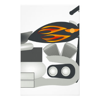Motorcycle Drawing Stationery